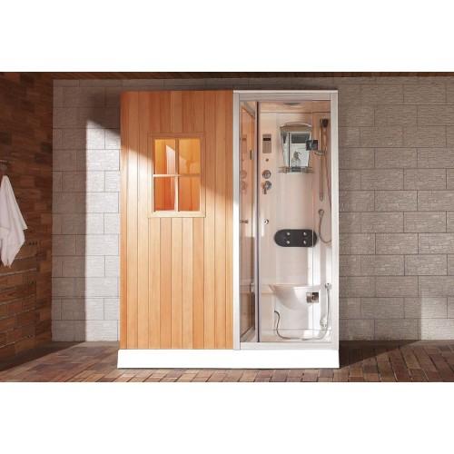 Sauna seca + sauna húmeda con ducha hidromasaje AS-002