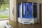 Cabina hidromasaje y bañera con sauna AT-011C