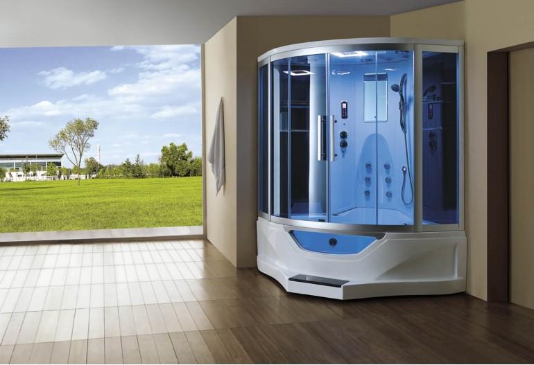 Cabine de hidromassagem e banheira com sauna AT-012B