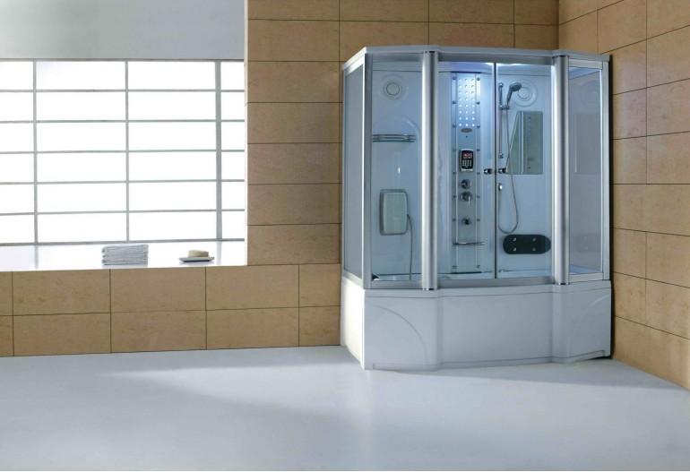 Cabine de hidromassagem e banheira com sauna AT-016