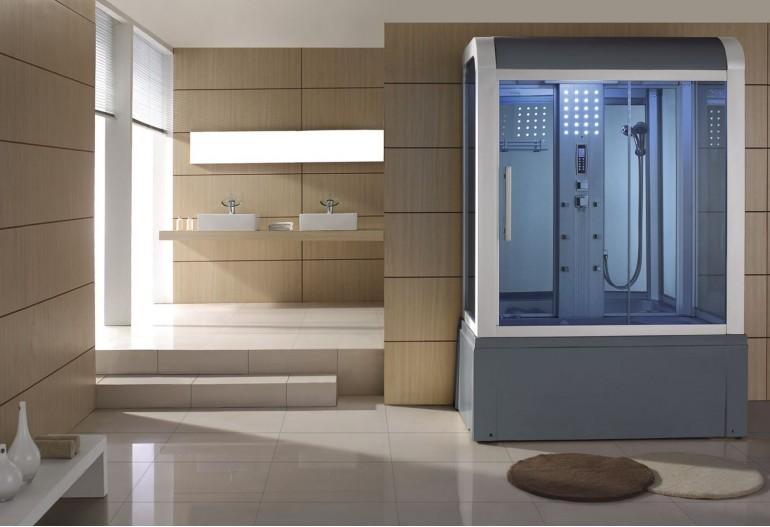 Cabine de hidromassagem e banheira com sauna AT-009