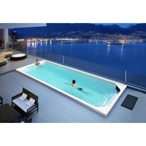 Piscina de hidromassagem swim spa AT-011