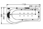 Bañera hidromasaje jacuzzi AT-001-2