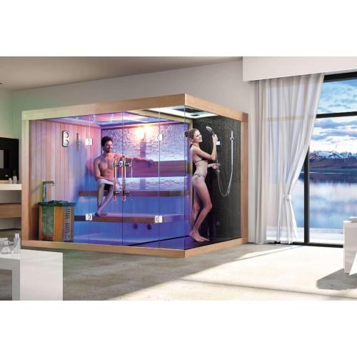 ¡Sauna seca e sauna húmida com chuveiro AT-002C!