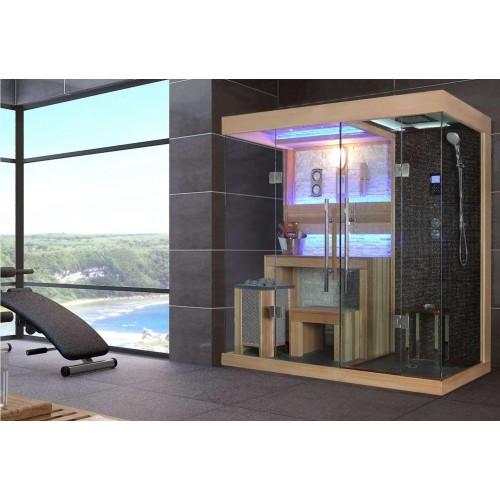 Sauna seca y sauna húmeda con ducha AT-001C