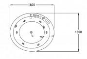 Bañera hidromasaje jacuzzi AT-024-2