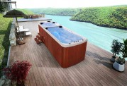 Piscina de hidromassagem swim spa AU-002