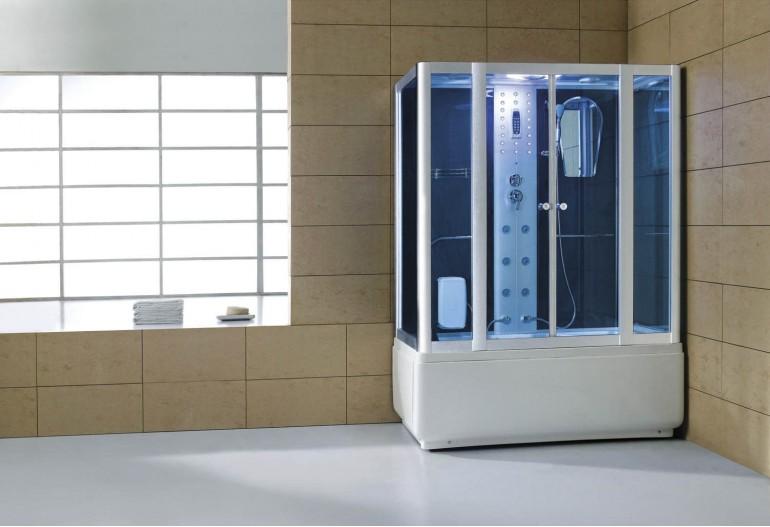 Cabine de hidromassagem e banheira com sauna AT-008B