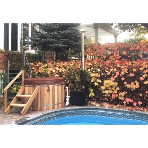 Ofuro japonês / Banheira de madeira exterior AU-002A