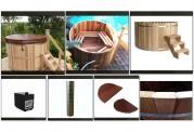 Ofuro japonés / Tina de madera exterior AU-002B