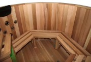 Ofuro japonês / Tina de madeira exterior AU-003B
